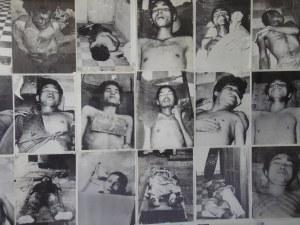 De gruweldaden zoals die nu in het museum van S-21 op foto's te zien zijn in Phnom Penh.
