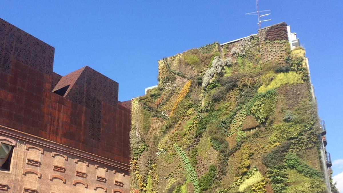 De verticale tuin van Madrid