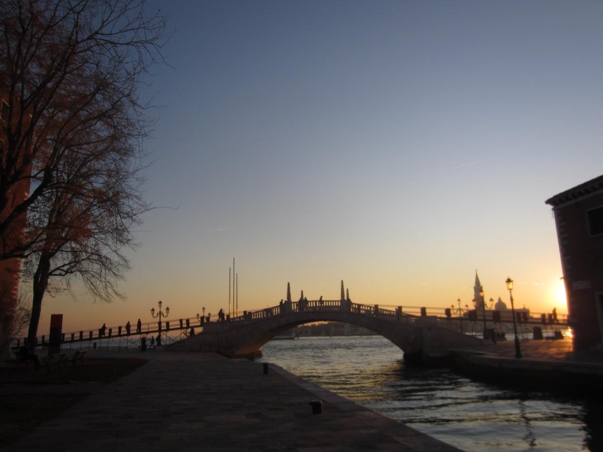 Ochtendgymnastiek in Venetië