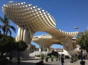 Metropol Parasol op Plaza de la Encarnacíon in Sevilla.