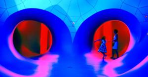 Impressie van 'Pentalum', creatie van Architects of Air. Te zien in Heerlen tijdens Cultura Nova.