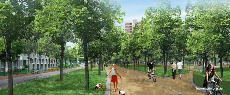 De voormalige A2-traverse in Maastricht wordt een groenzone. Bron: A2/Groene Loper